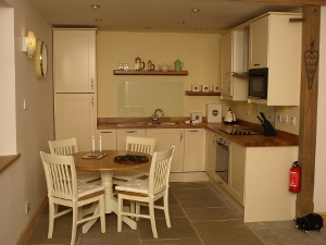 Kitchen of Aros Beag self catering accommodation in the Loch Lomond and the Trossachs National Park, Scotland